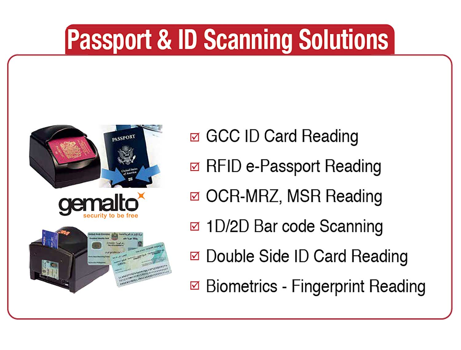 Passport ID Scanning Solutions