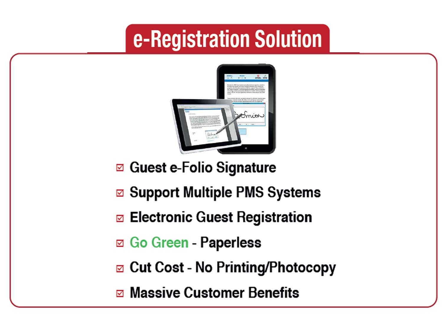 E-Signature And Guest Registration Solution For Hotels
